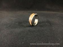 Titanium Rosewood Zebrawood ring