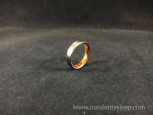 Ironwood & titanium ring