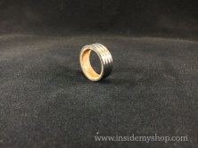 Titanium & white oak ring