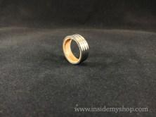 Titanium & white oak ring