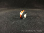 padauk wood & titanium ring