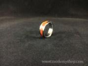 padauk wood & titanium ring