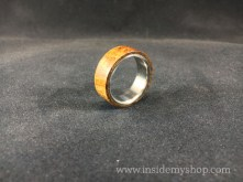 Iron wood Titanium ring
