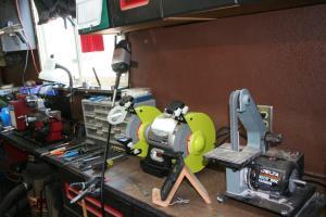 """Bench grinder and 1"""" belt sander"""