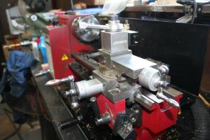 mini lathe close up