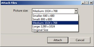 Select your image file size