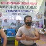 Sukseskan Program Nasional, TNI/Polri dan Perangkat Desa di Kecamatan Keruak Jalani Vaksinasi
