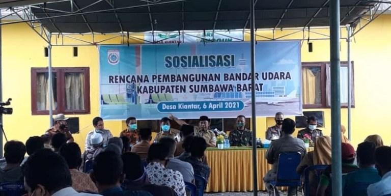 Bupati KSB Sosialisasi Pembangunan Bandara Kiantar