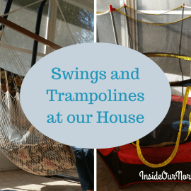 Swings and Trampolines At Our House