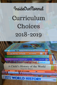 Curriculum Choices for 2018-2019 from InsideOurNormal