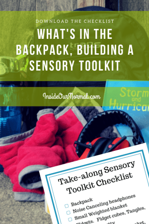 Sensory Toolkit Backpack- InsideOurNormal.com