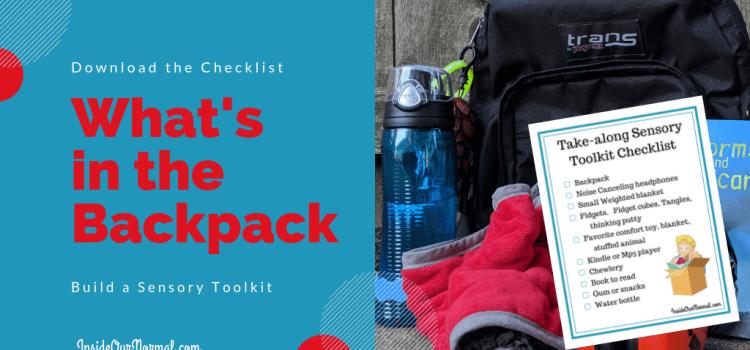Sensory BackpackToolkit Inside Our Normal.com
