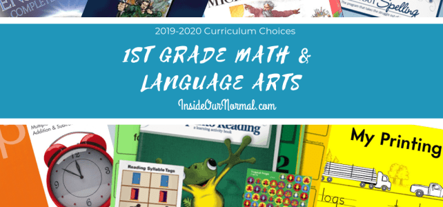 1st Grade Curriculum Choices for AJ All About Reading Spelling Math U See