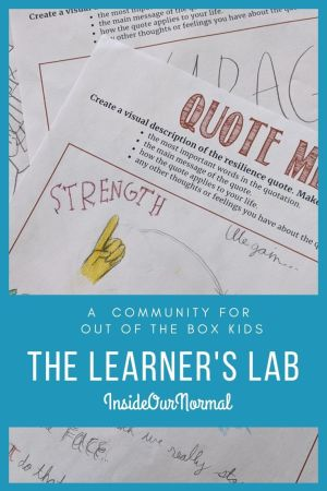 THe Learner's Lab, a community for Outside the Box Kids