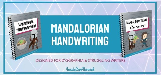 Mandalorian Handwriting Pages for Dysgraphia