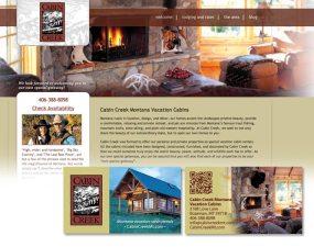 Cabin Creek web & print design