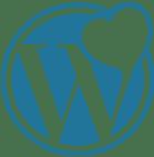WordPress logo - heart