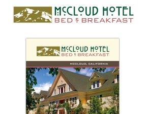 McCloud Hotel Bed & Breakfast Print Materials