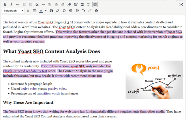 blog post - content editor - transitions highlighted