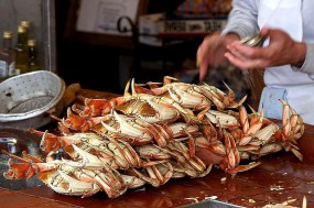 Fresh caught Dungeness Crab along the Olympic Culinary Loop