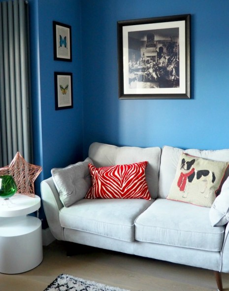 Bright coloured living room