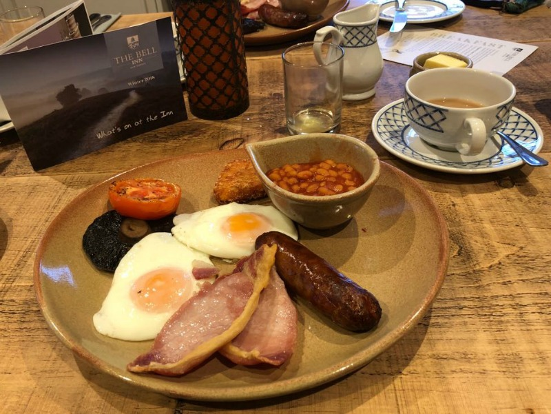 cooked breakfast at The Bell Inn