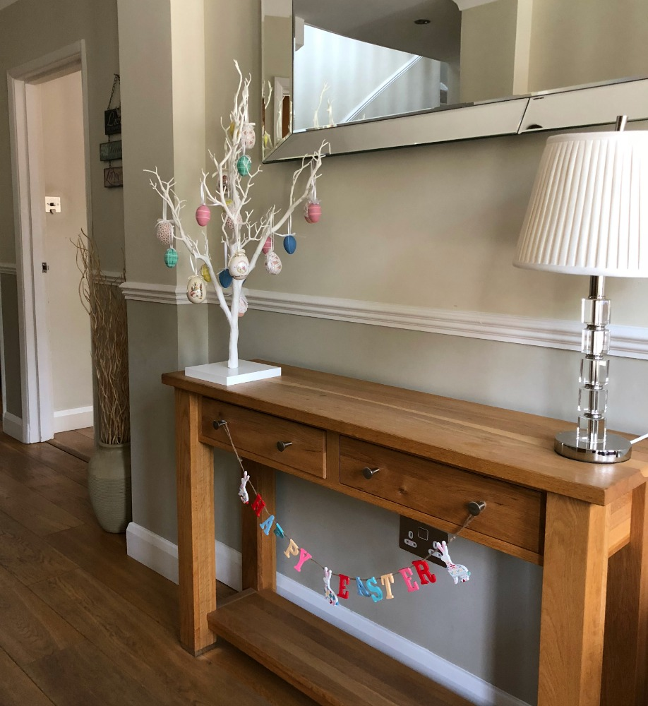 easter decorations in home