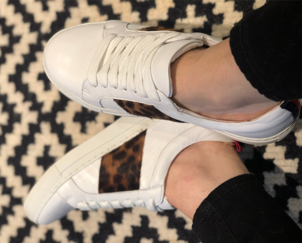 Boden Leopard Print Trainers
