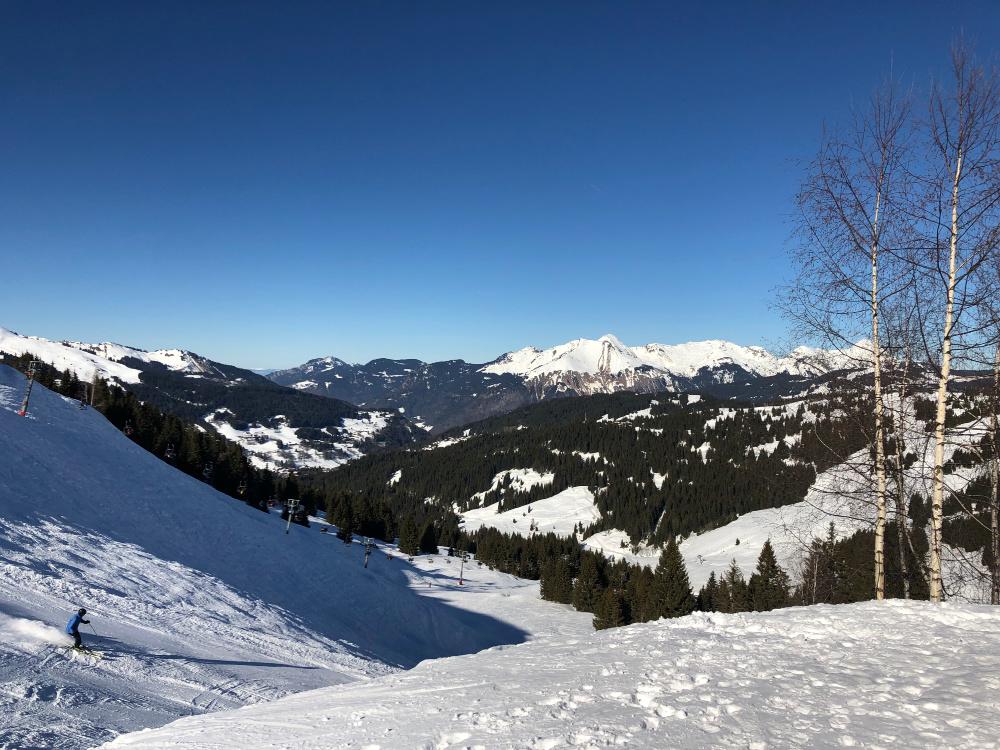 ski scenery porte du soleil