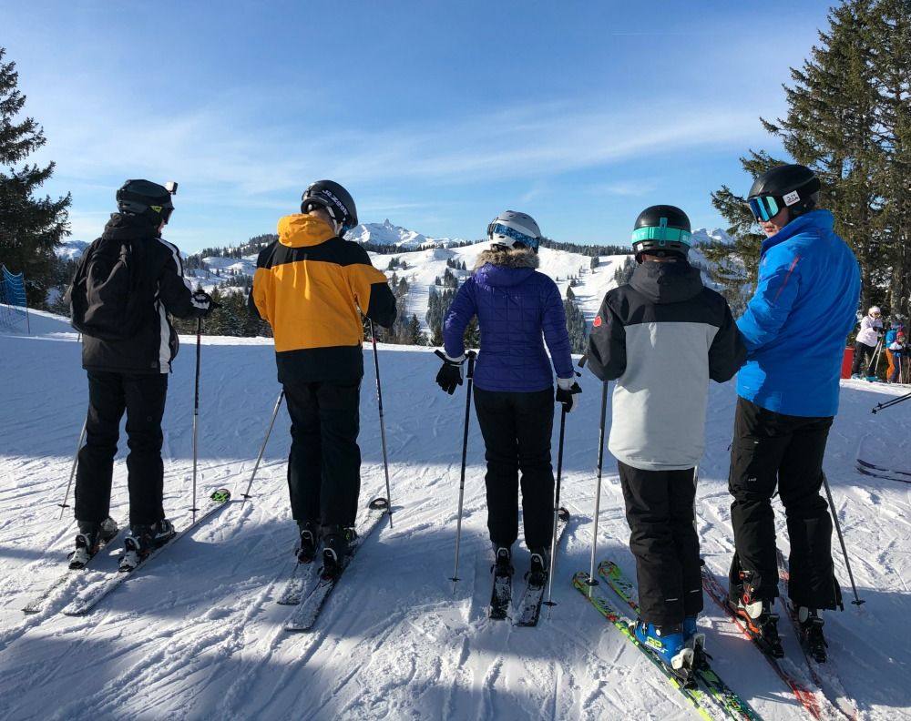 Skiing with teenagers