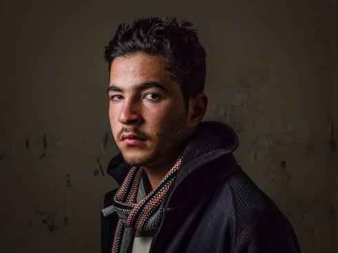 Abdul-Rahman, age 18, from Idlib, a Syrian refugee boy at the Free Syria school.