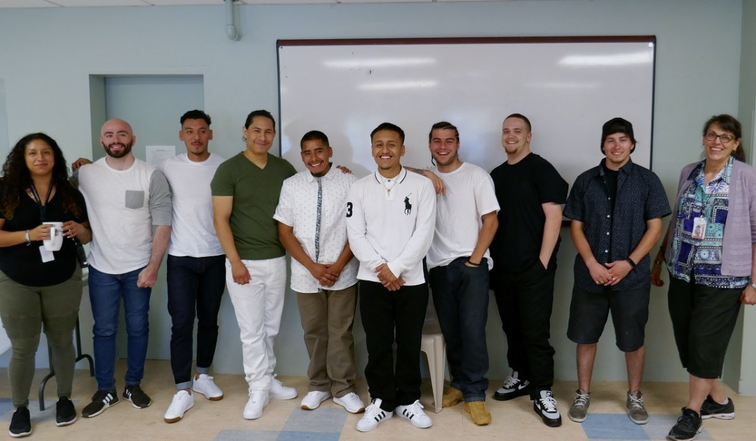 scholarship winners, with program staff