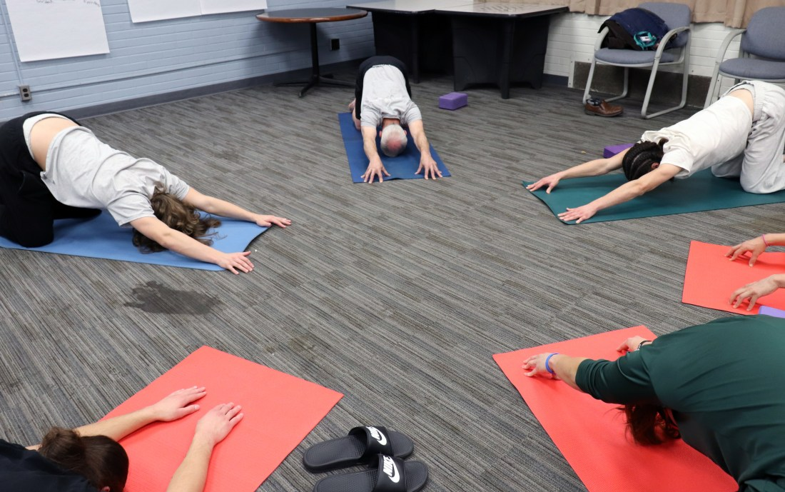 Students participate in a recent Living Yoga class at MacLaren Youth Correctional Facility.