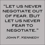 JFK Negotiation Quote