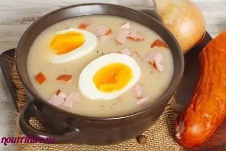 Журек с яйцом
