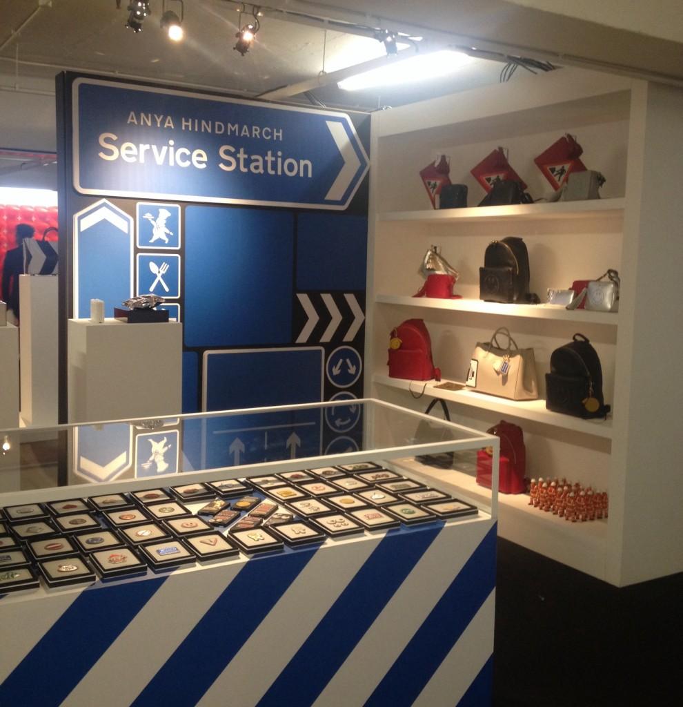 London retail, pop-up, London pop-up, Selfridges, Anya Hindmarch, Anya Hindmarch Service Station, retail innovation, London retail, trend tours