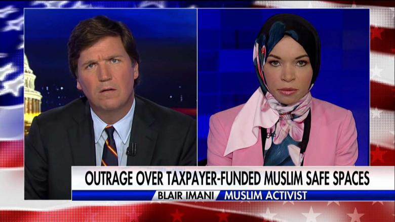 Image result for Tucker Slams Activists Who Backs Taxpayer-Funded Muslim