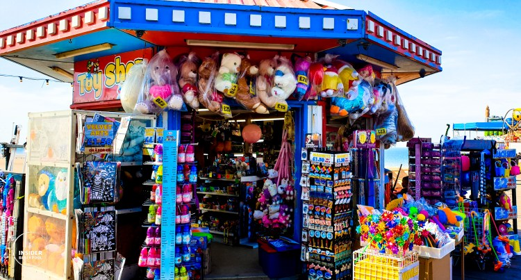Typical stall on central pier. Blackpool Top Tips.