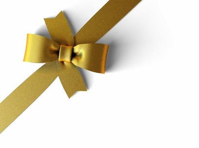 Christmas, present, shopping, gift, ribbon, gold