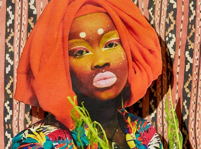 Atong Atem, recipient of Mecca's mentoring scholarship and her Self Portrait on Mercury