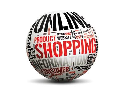 Online, shopping, globe, ecommerce