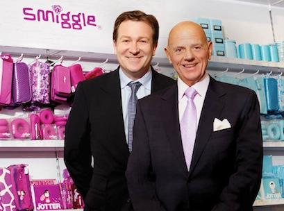 Solomon Lew (right) and Premier CEO Mark McInnes o