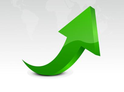arrow, up, chart,