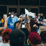 Image of Black Lives Matter protesters in Minneapolis