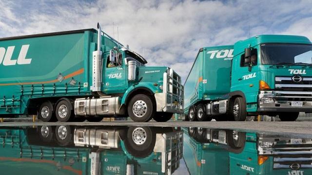 Toll logistics trucks
