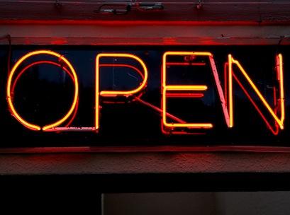 open sign, hours, shopping, shop