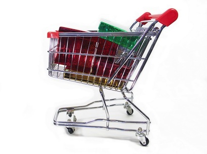 trolley, christmas, shopping, present, gift