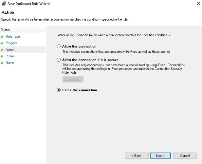 How to Block Program From Accessing the internet?