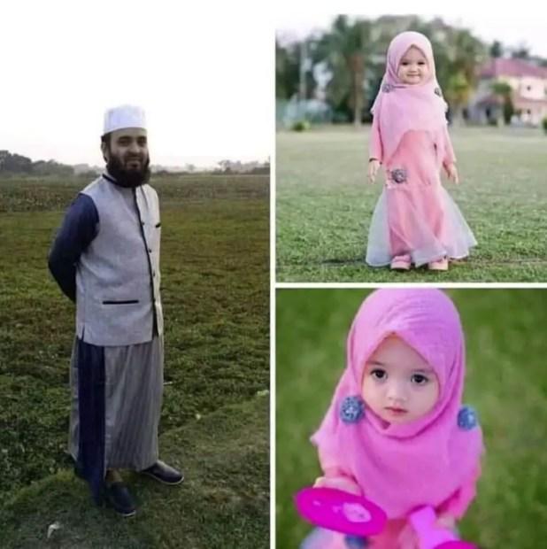 Mizanur Rahman Azhari family photo with daughter