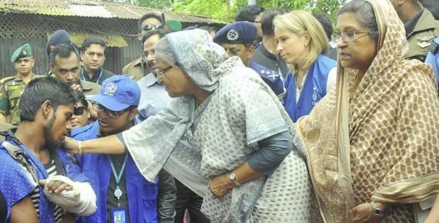 When sheikh Hasina visit Rohingya camp
